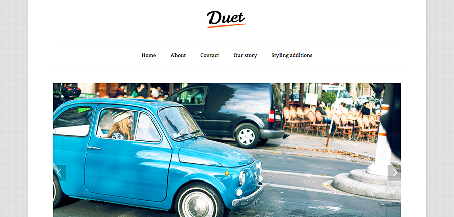 Duet theme screenshot in a desktop browser.