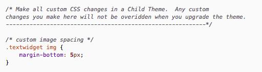 Modified CSS file