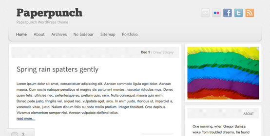 Paperpunch WordPress theme