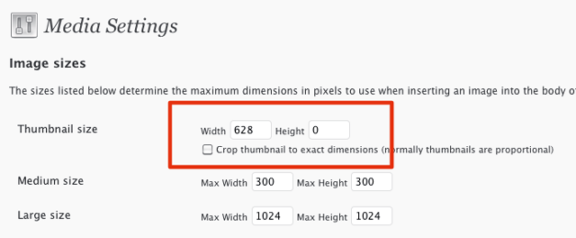 Set your thumbnail width