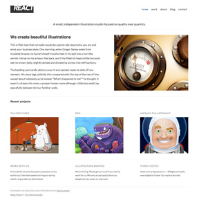 React WordPress theme