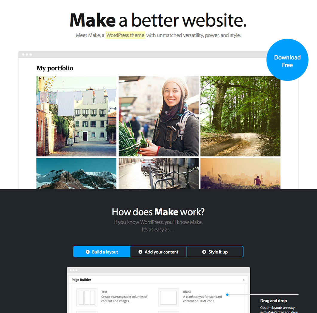 making wordpress templates - make and make plus the theme foundry