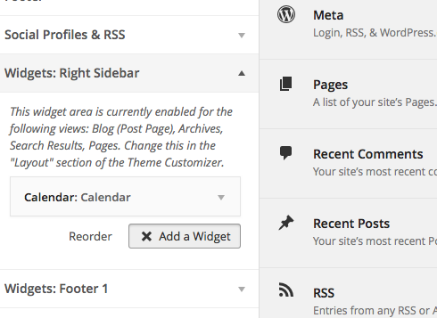 Add WordPress Widgets via Widget Management
