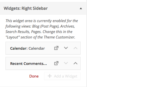 Reorder Widgets in Widget Management