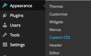 Edit CSS With Simple Custom CSS Plugin