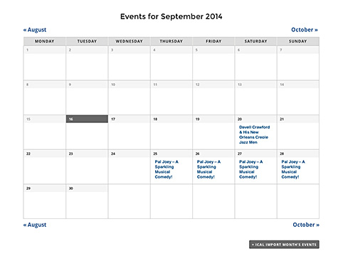 Events Calendar Pro Integration