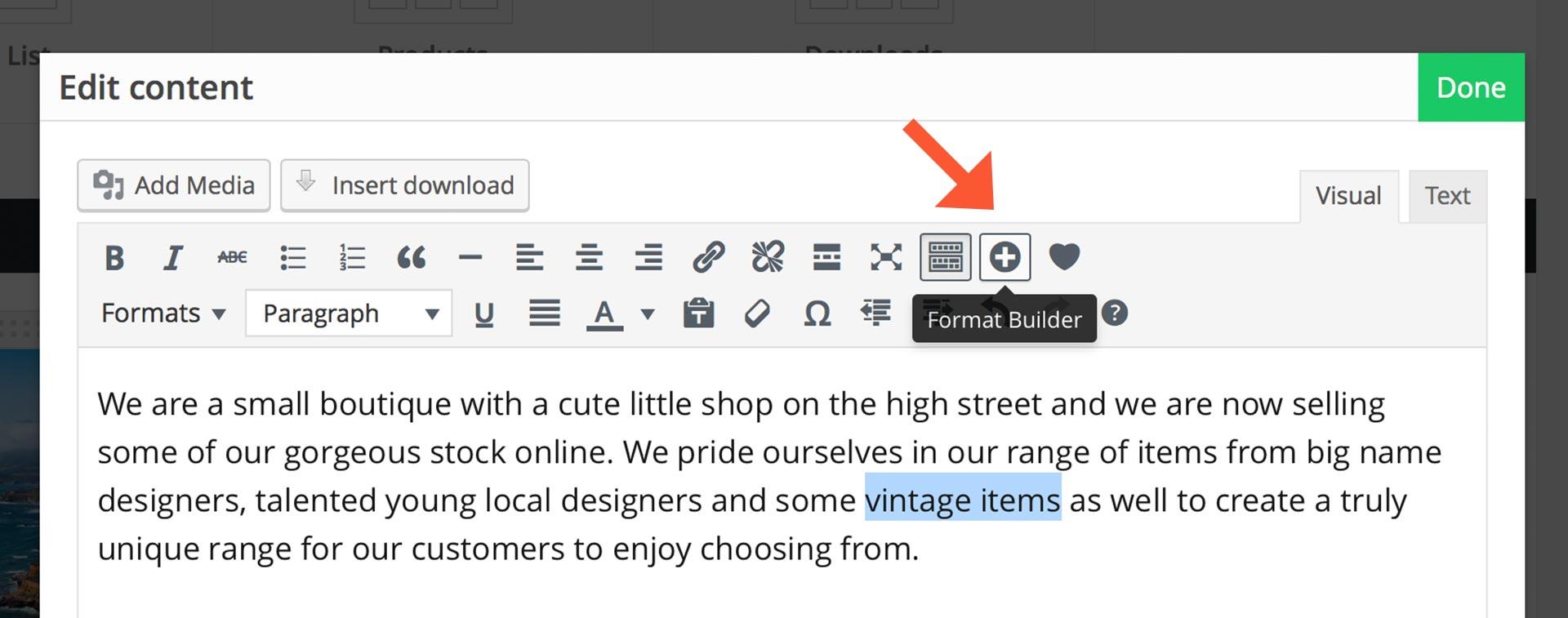 format-builder