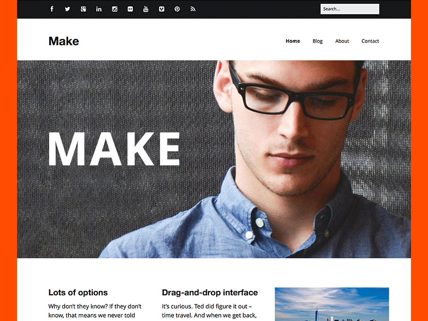 Make the theme foundry for Making a wordpress template