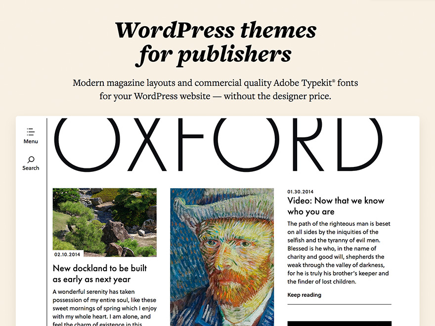 the theme foundry wordpress themes for publishers
