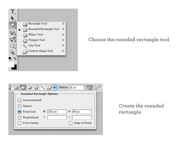 Create a rounded rectangle
